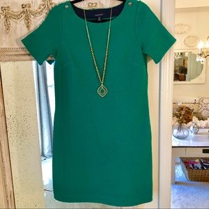 Lands' End Green Sheath Dress size small